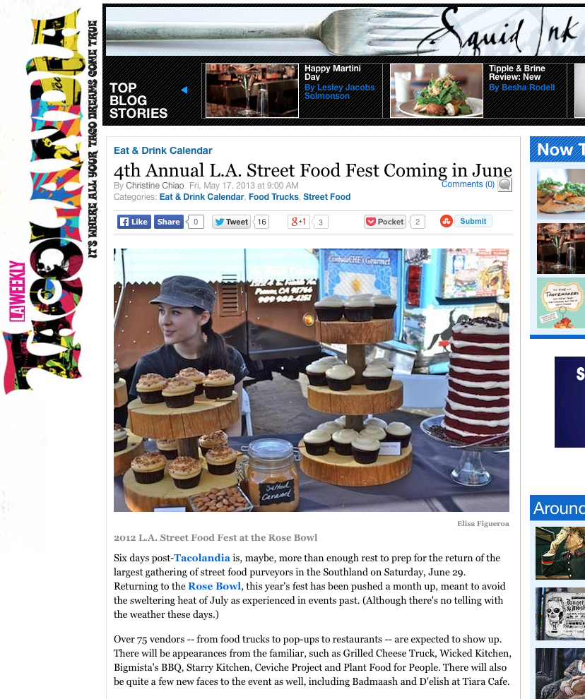 4th Annual L.A. Street Food Fest Coming in June