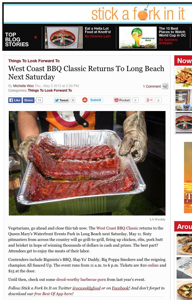 West Coast BBQ Classic Returns To Long Beach Next Saturday