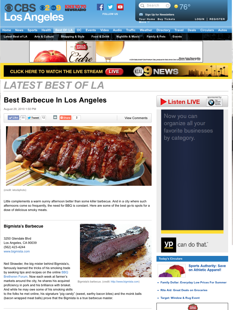 Best Barbecue In Los Angeles