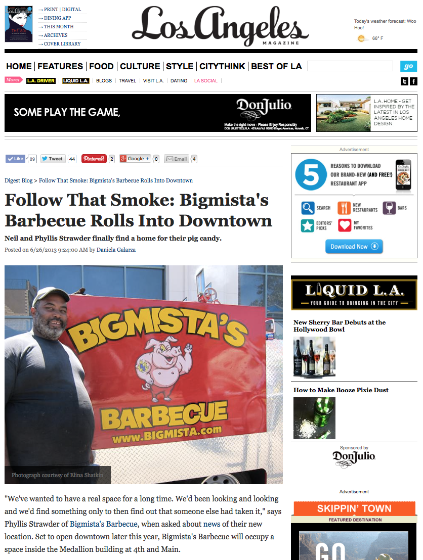 Follow That Smoke: Bigmista's Barbecue Rolls Into Downtown