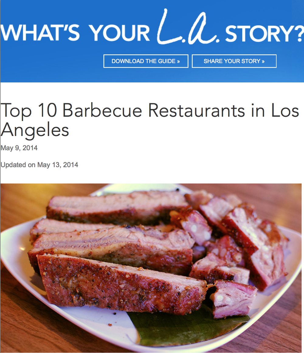 Top 10 Barbecue Restaurants in Los Angeles