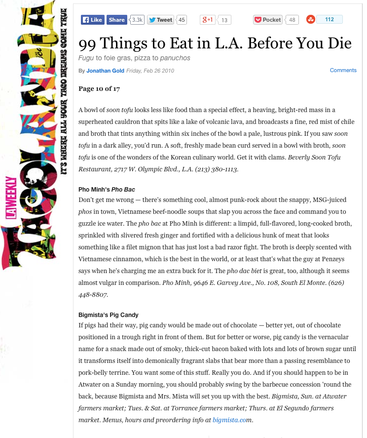 99 Things to Eat in L.A. Before You Die