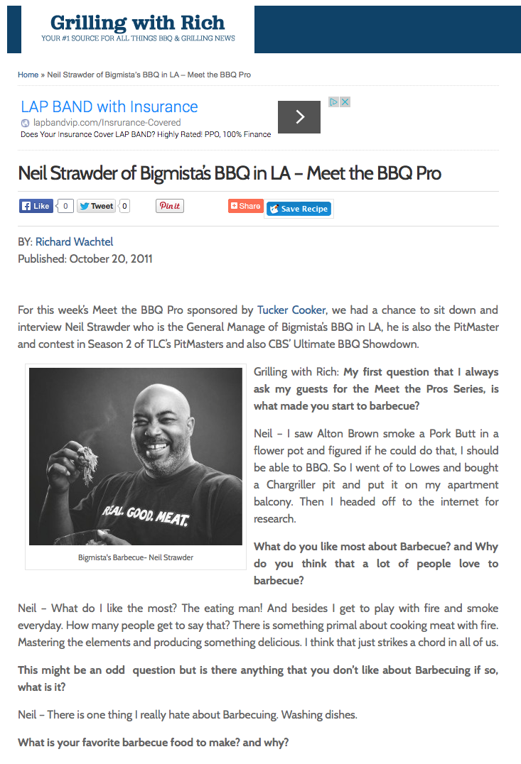 Neil Strawder of Bigmista's BBQ in LA - Meet the BBQ Pro