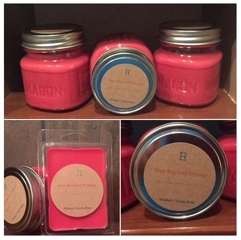 Holstein Candle Shop's Vine Ripened Tomato candles. What a treat!