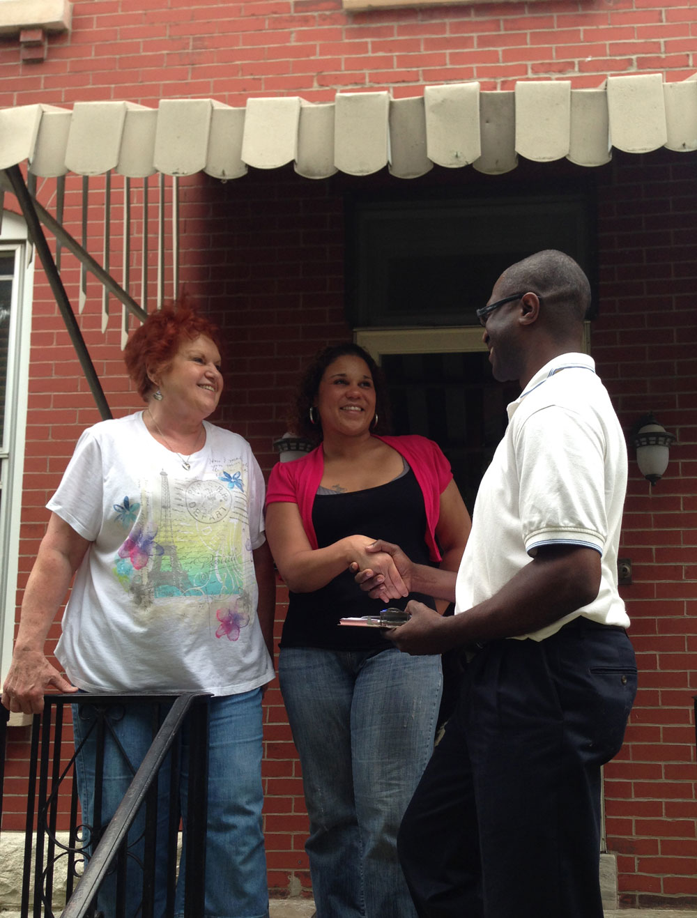 Meeting constituents while canvassing