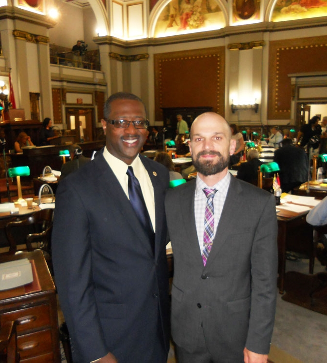 At the board of Aldermen with Scott Ogilvie