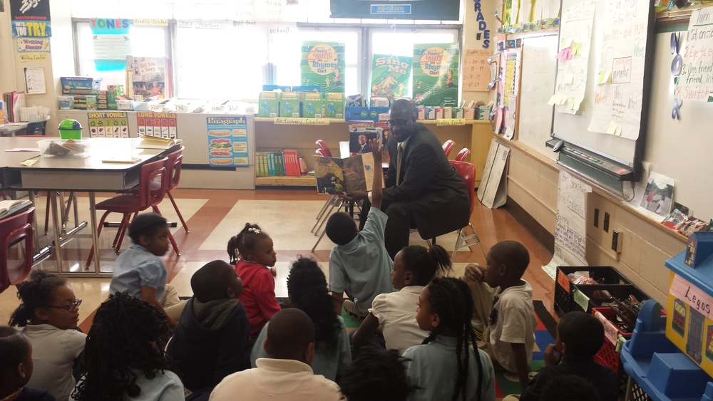 Reading with 2nd graders at Peabody Elementary School February 26, 2015
