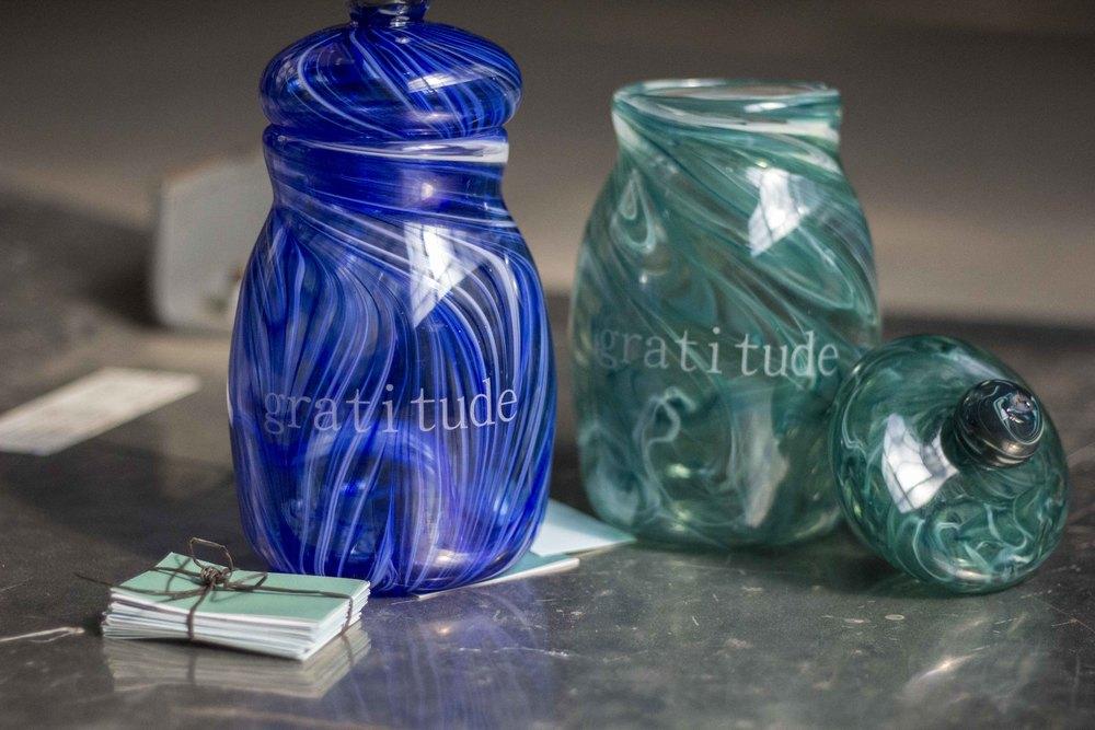 glass gratitude jars