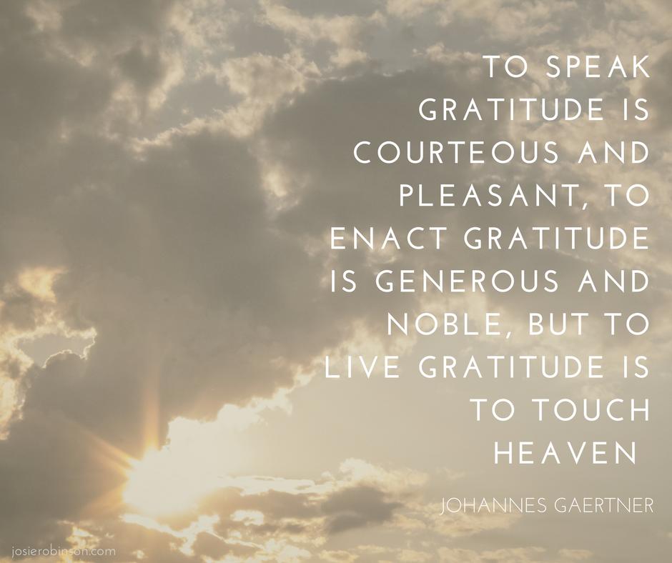 Johanes Gaertner quote about gratitude