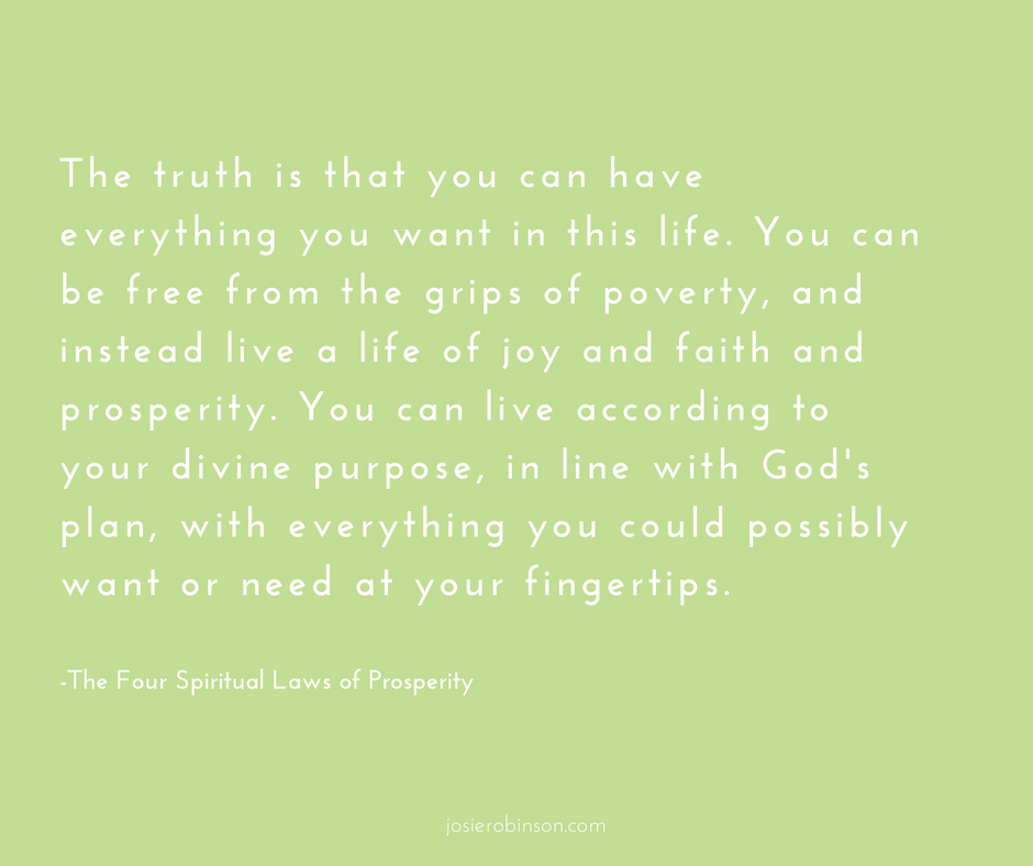 Four Spiritual Laws of Prosperity quote