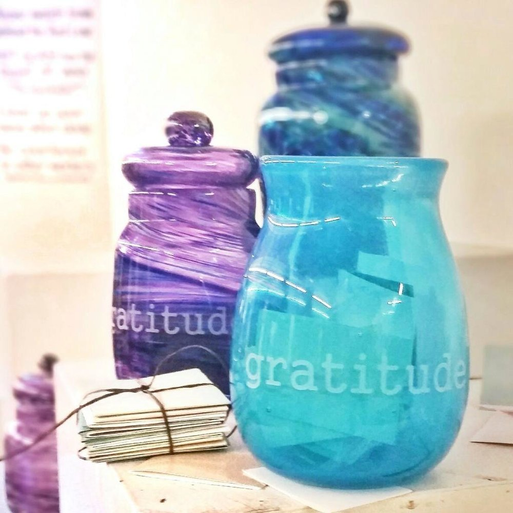 Beautiful handmade Gratitude Jars