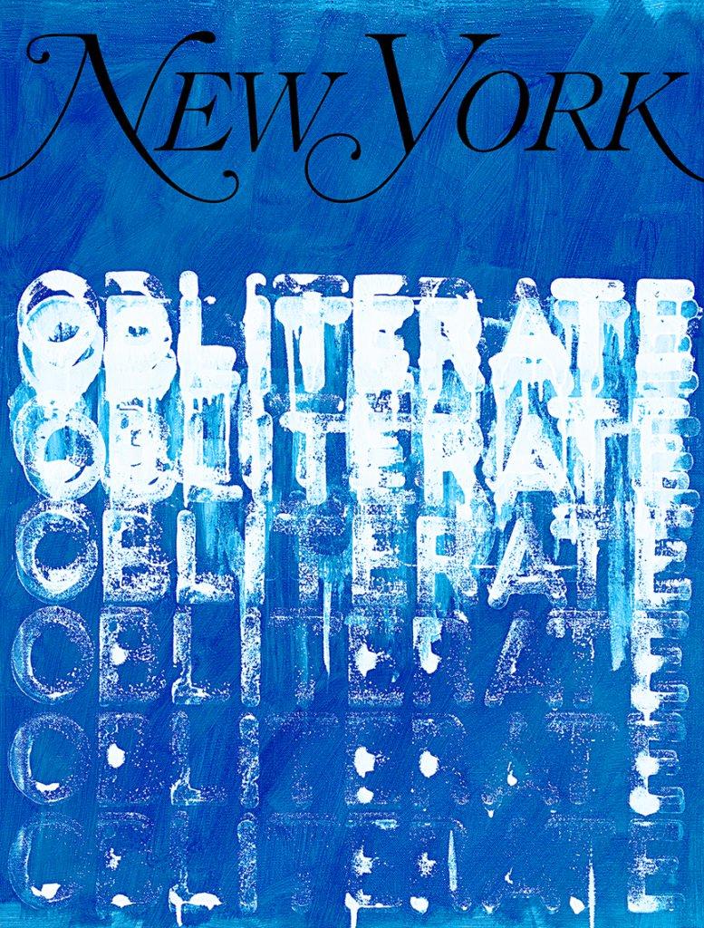 Mel Bochner's  My New York Artist Covers: Mel Bochner . Courtesy of the artist and New York Media.