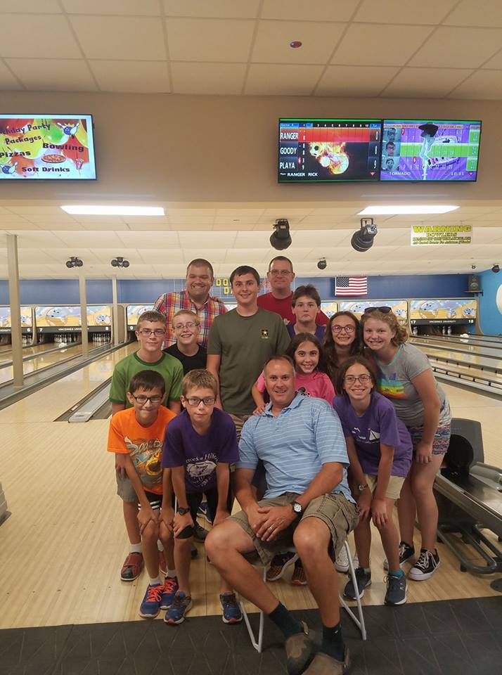 The 2017 Youth Scavenger Hunt ends with a bowling party at the Vincennes University Bowling Alley