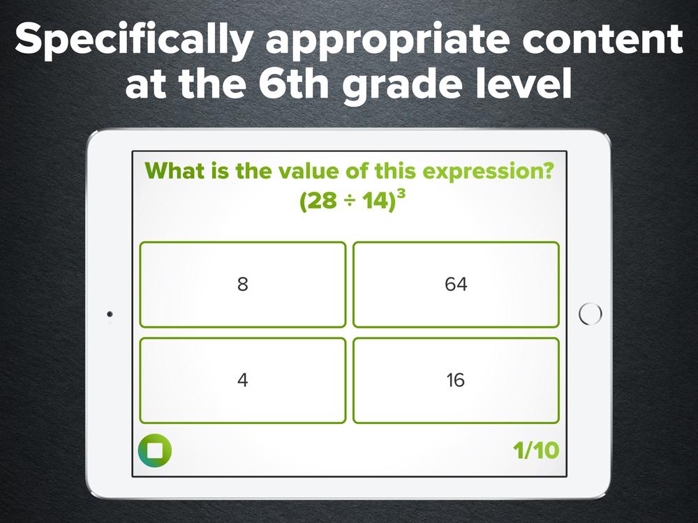 6th Grade Math Practice — Peekaboo Studios