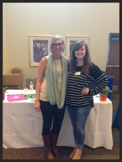 Meredith Osborn and Molly Gingrich at the SLU Career Fair