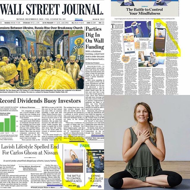 My uncle @jim.slomka made this collage of my face on the wallstreet journal 🤣💙 I really could have never imagined this! Grateful for mightyhearts at @calm  It's also the solstice today and I've been meaning to wish you all a lovely solstice and remind you that today's the last day to sign up for my nye class at the early bird rate. You can register at christi-an.com (link in bio).