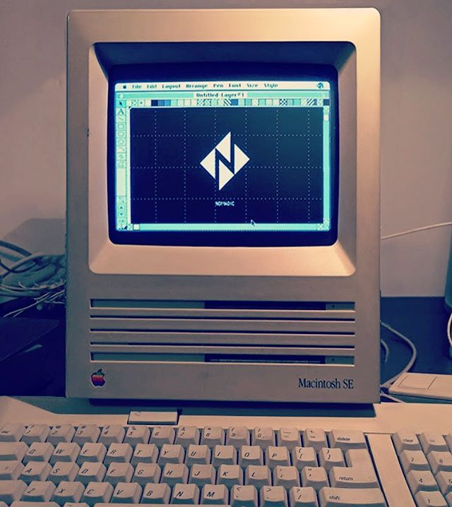 Nomadic #Macintosh SE...still works.  #tbt #vintage #design #floppydisk #apple #powermac