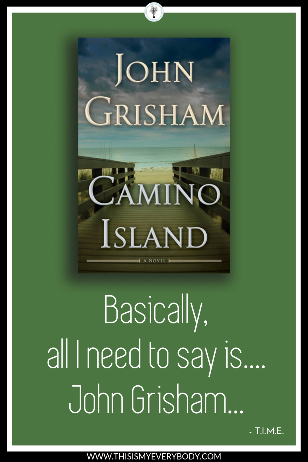 Such a fun read that will have you turning the pages quickly to unravel the mystery… And, after turning the last page, sorry you did not linger a little longer. Camino Island by John Grisham.