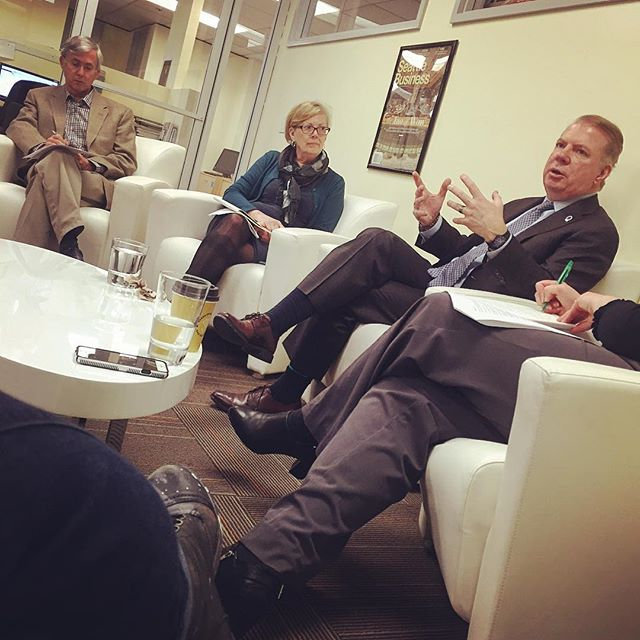 Tuesday coffee and conversation with @mayoredmurray and @seattlemag