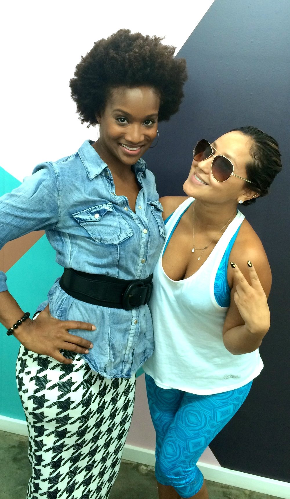 Adrienne Bailon with BRG Owner & Designer