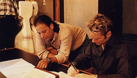 Robert Elhai (left) with film composer  Brian Tyler .