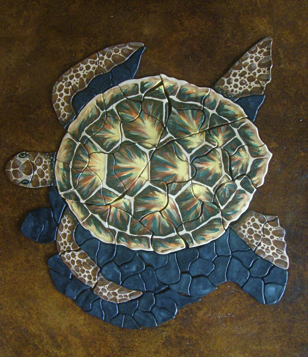 Close up of Turtle Mosaic