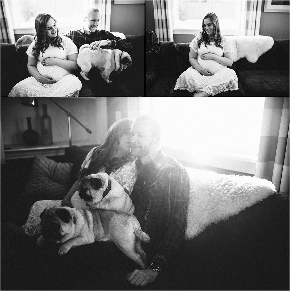 Black and White maternity photo collage