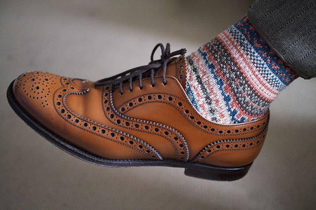 approved.  #sockclublondon #socks #sockgame #style #fashion #bestfootforward #brogues #shoes #footwear #firstruleofsockclub #noapologiesnoregrets