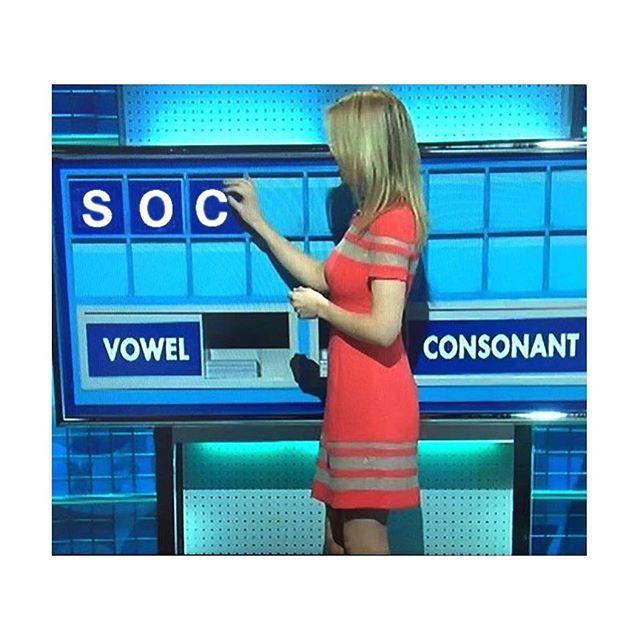 i'll take another consonant please rachel.  #countdown #sockdown #consonant #sockclublondon #tenthruleofsockclub #rachel #rachelriley #noapologiesnoregrets