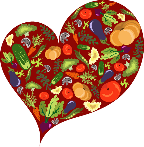 heart with vegetables inside