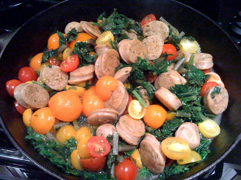 sausage and kale