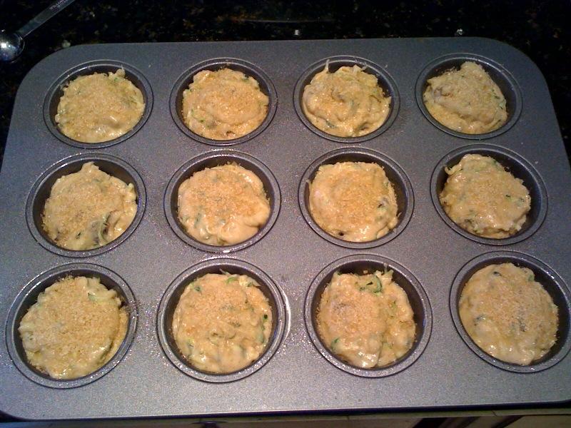 zucchini muffins before