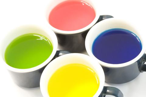 cups of dye