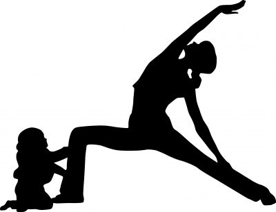 mother and child yoga graphic