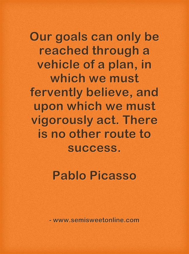 Picasso Goals Quotation