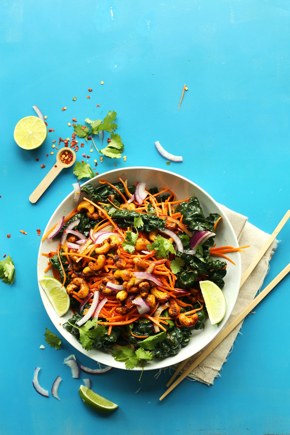 Thai Carrot Salad With Curried Cashews: Image from  Minimalist Baker.com