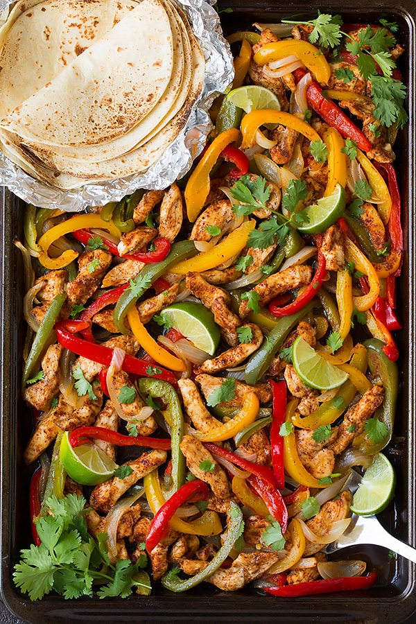 Sheet Pan Fajitas from Cooking Classy