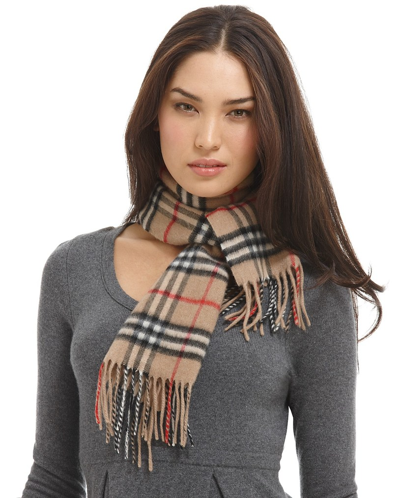 Girl with cashmere scarf