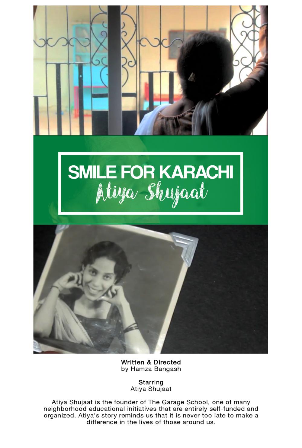 Smile for Karachi: Atiya Shujaat