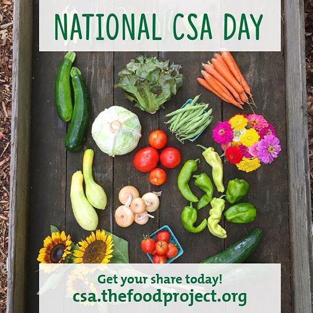 Today is National #CSADay! Show your support for local food, youth leaders, and healthy communities by signing up for a share from The Food Project. Get yours today via link in bio.