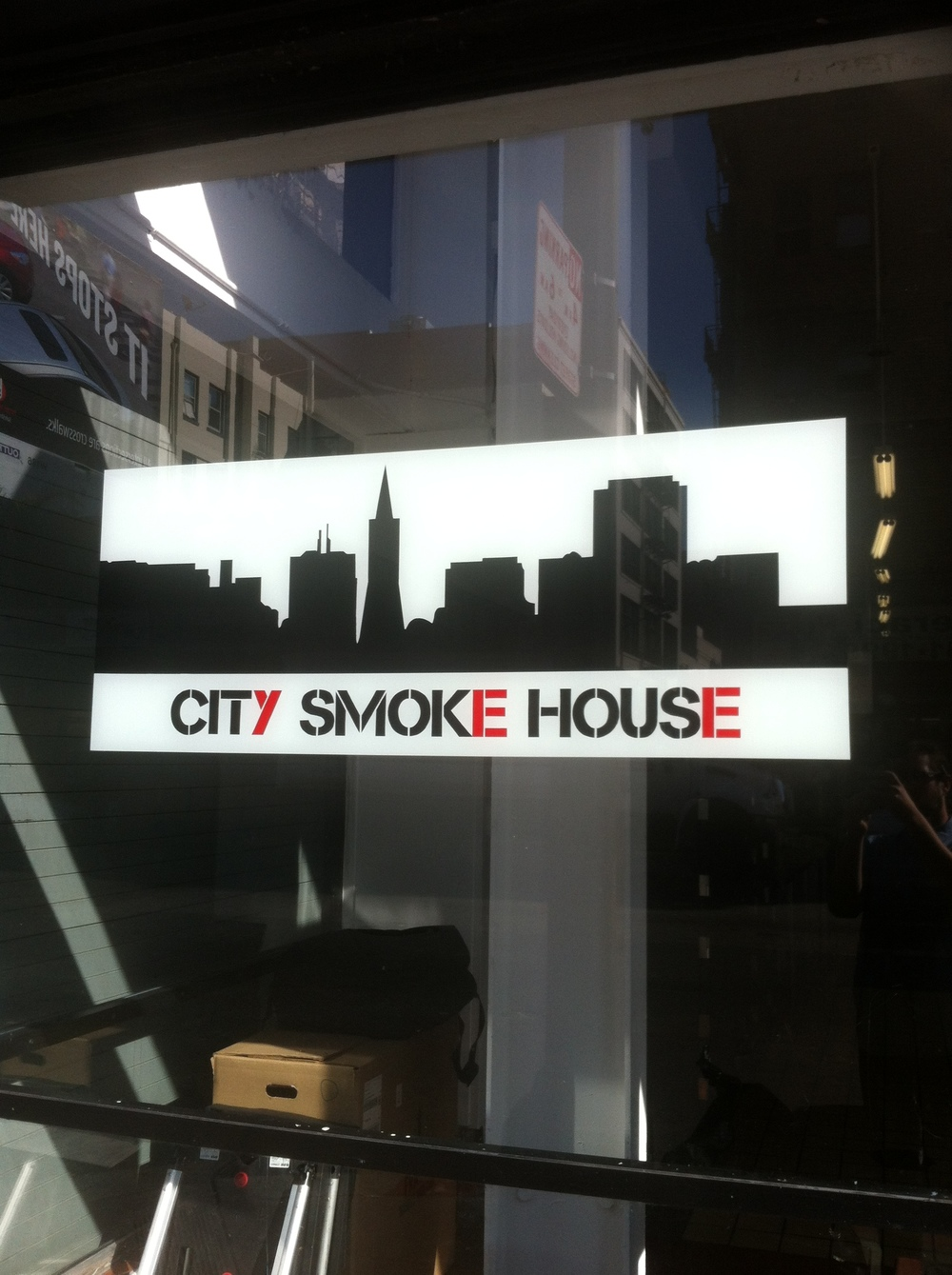 Window at City Smoke House