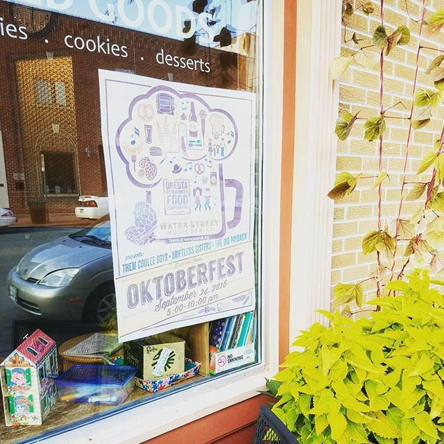Have you seen our Oktoberfest  posters up on Water Street yet? Get your tickets while you can at wsmsdecorah.org! #Oktoberfest #Season5
