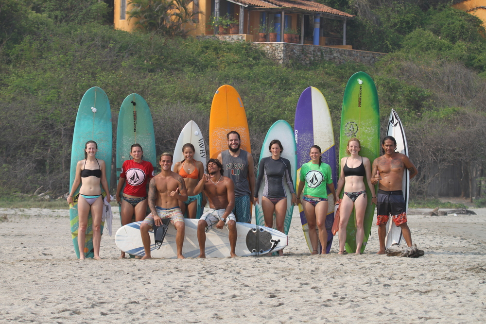 Some of the Oasis surf crew!