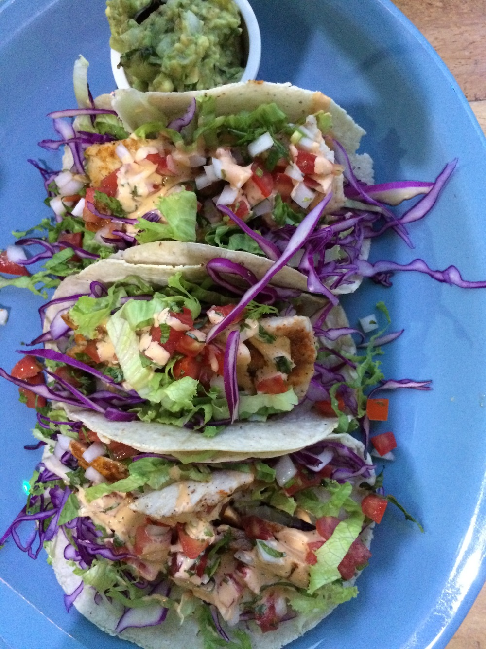 Some other fantastic fish tacos from a restaurant called Turtle Bay.