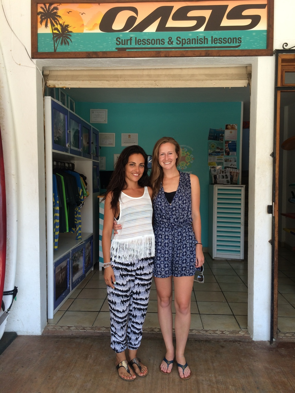 Oasis  is the organization I used to take Spanish and surf lessons. They also have homestay options and apartments. They're fantastic — check them out!