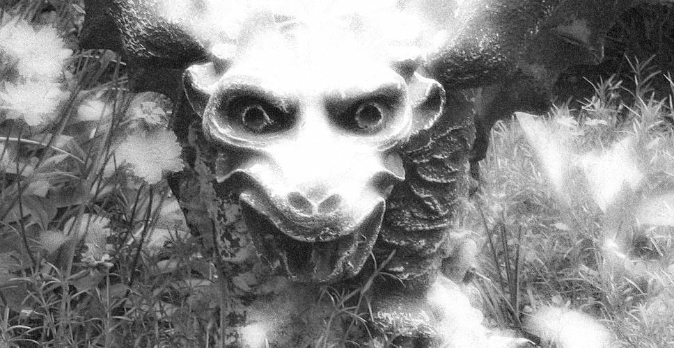 tHIS IS A PICTURE OF MY garden GARGOYLE THAT I TOOK AND PHOTOSHOPPED.