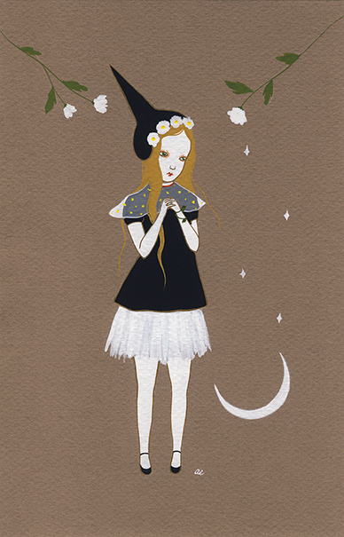 A Springtime wishing witch by Amy Earles