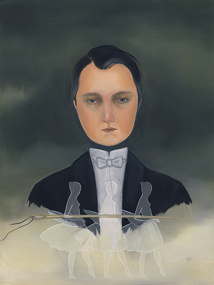 Beware the Wounds of Someone Else by Amy Earles, oil on panel