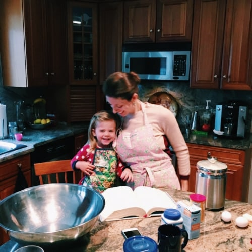 Enjoying some time together cooking.