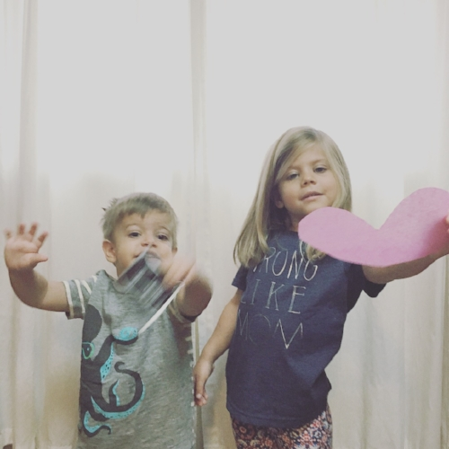 Big sister and big brother announcing baby #3 is a girl!